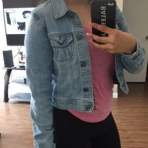 2 denim jackets perfect condition size small